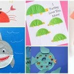 Ocean Animal Cupcake Liner Crafts