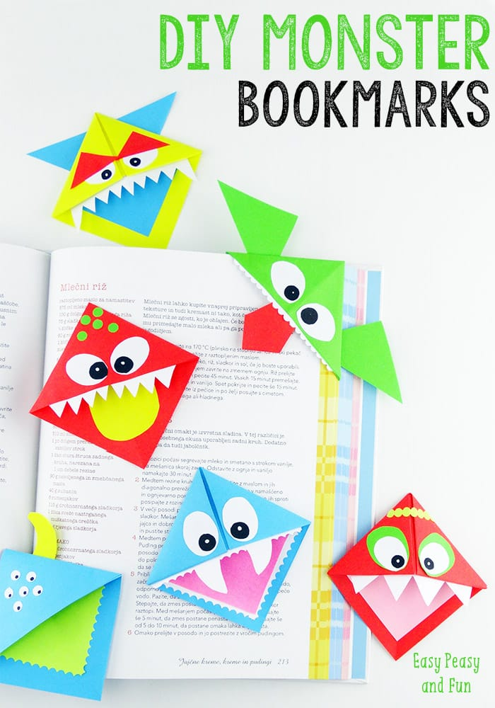 DIY Corner Bookmarks - Cute Monsters Tutorial