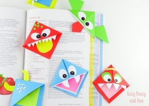 DIY Corner Bookmarks – Cute Monsters