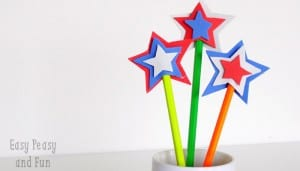 USA Star DIY  Pencil Topper