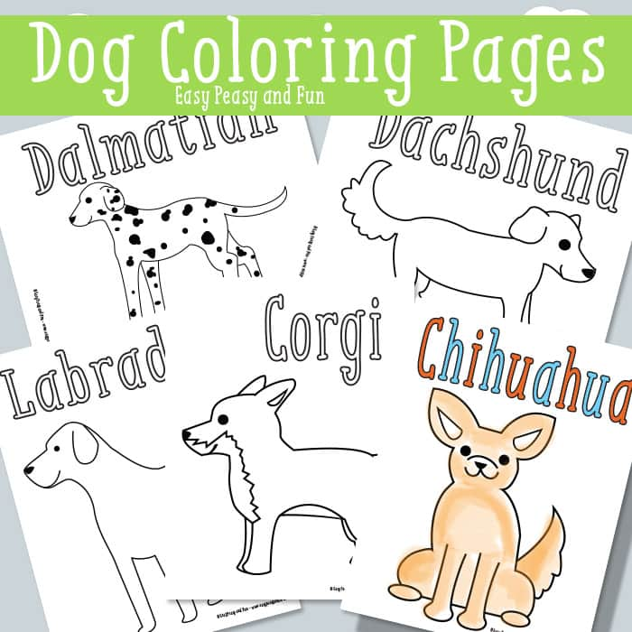 graphic about Dog Coloring Pages Printable identify Puppy Coloring Web pages - No cost Printable - Basic Peasy and Entertaining