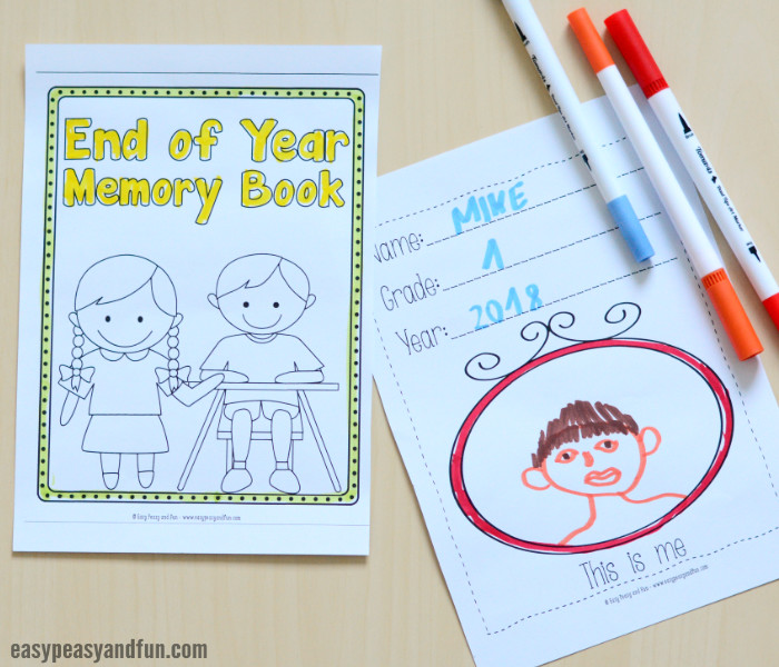 image about Free Printable Memory Book Pages named Conclude of Calendar year Memory E book Totally free Printable - Straightforward Peasy and Enjoyable