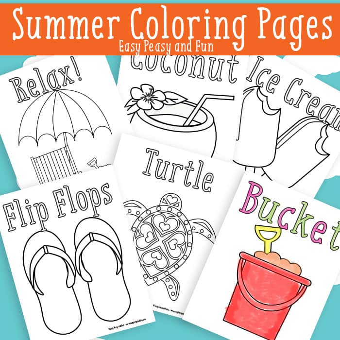 graphic relating to Summer Printable Coloring Pages identify Summertime Coloring Internet pages Free of charge Printable - Simple Peasy and Exciting