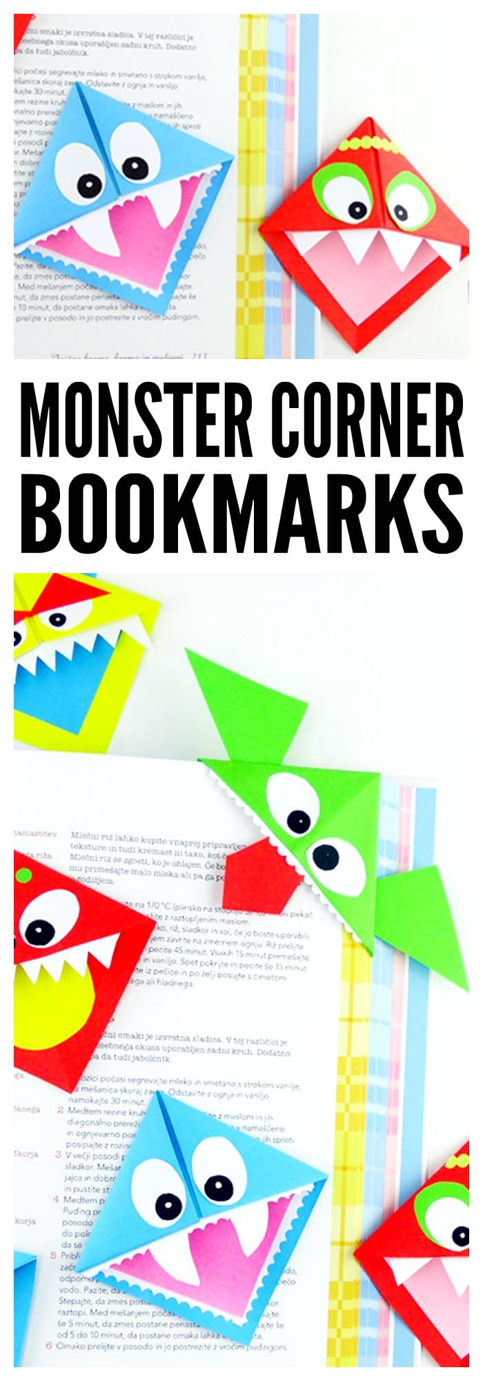 Monster Corner Bookmakrs Origami Step By Folding Instructions