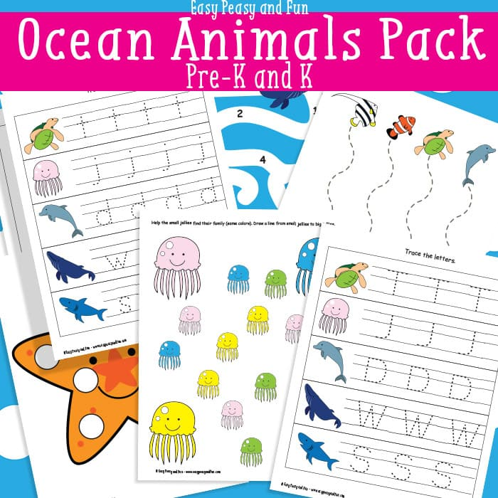 photograph regarding Printable Ocean Animals named Ocean Pets Printables For Youngsters - Simple Peasy and Entertaining
