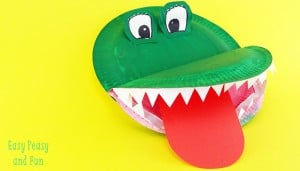 Crocodile Paper Plate Craft for Kids