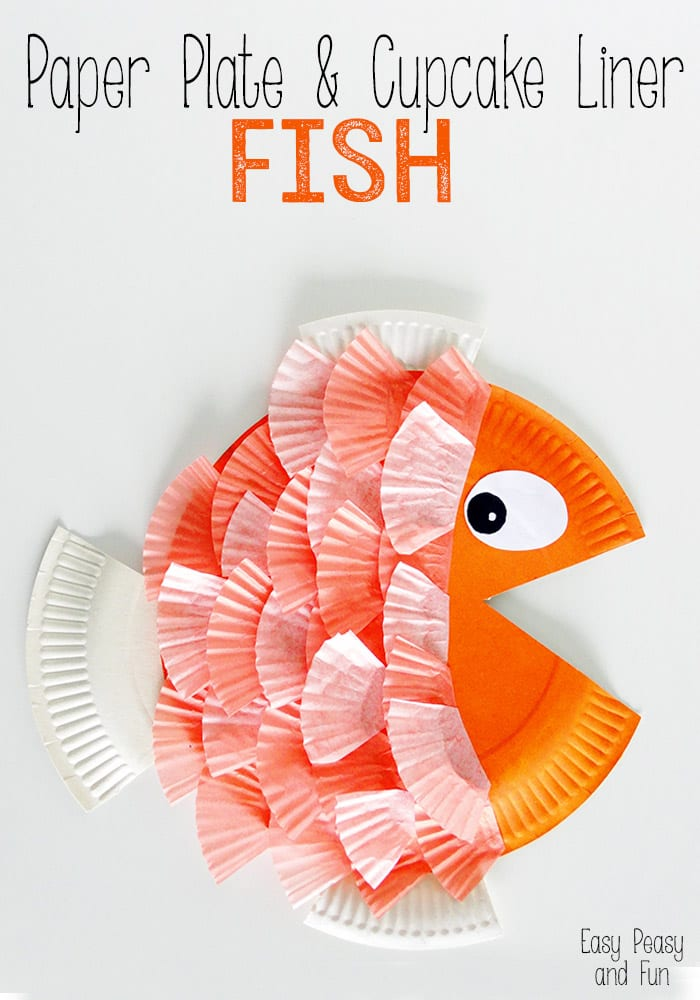 Paper plate amp cupcake liner fish easy peasy and fun