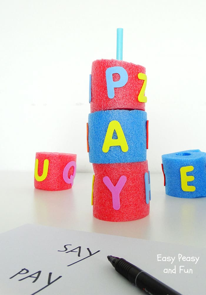Pool Noodle Word Search - Pool Noodle Activity Idea