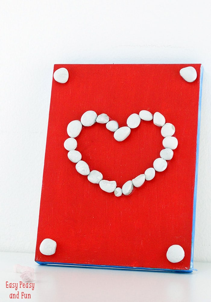 Rocking heart craft rock crafts for kids