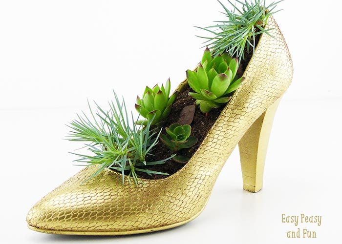 Shoe Flower Pot Shoe Crafts Easy Peasy And Fun