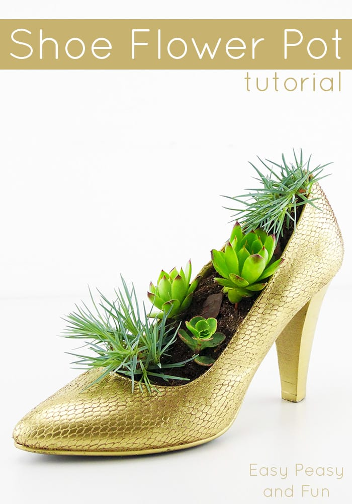 Shoe Flower Pot Tutorial - Shoe Crafts