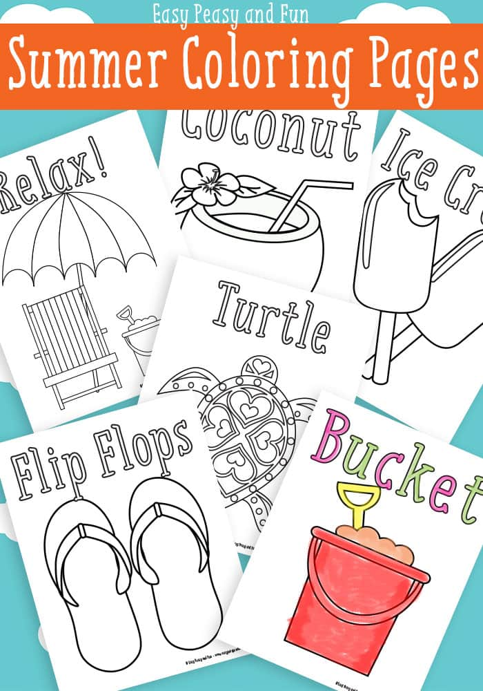 Summer coloring pages for kids free printable