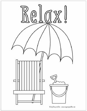 graphic relating to Summer Printable Coloring Pages identified as Summer season Coloring Webpages Absolutely free Printable - Uncomplicated Peasy and Enjoyment