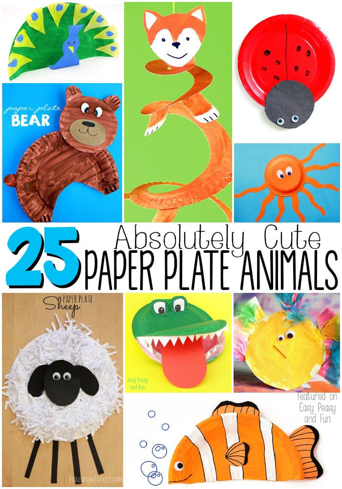 Absolutely Cute Paper Plate Animals - These paper plate crafts are great for preschoolers kids  sc 1 st  Easy Peasy and Fun & Adorable Paper Plate Animal Crafts - Easy Peasy and Fun