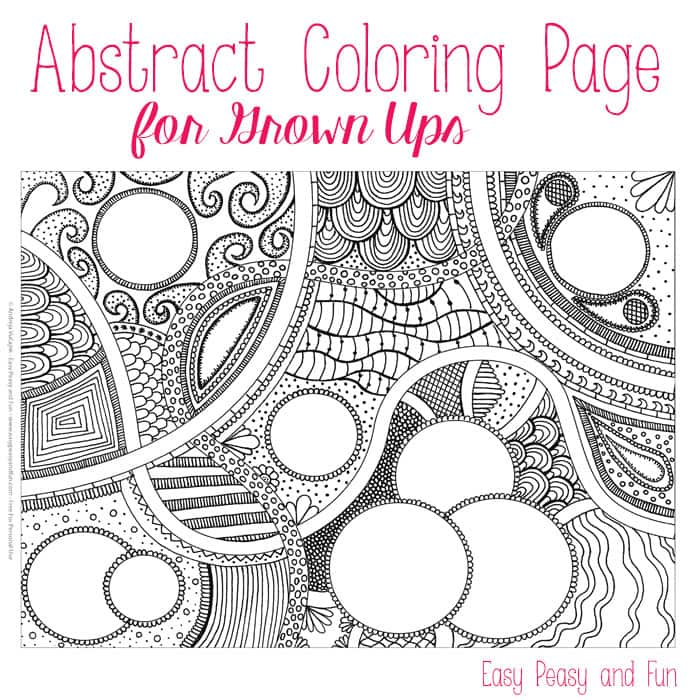 Abstract Halloween Coloring Pages : Free abstract coloring page for adults easy peasy and fun