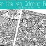 Under The Sea Coloring Pages for Adults