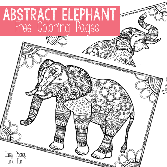 free easy adult coloring pages - free elephant coloring pages for adults easy peasy and fun