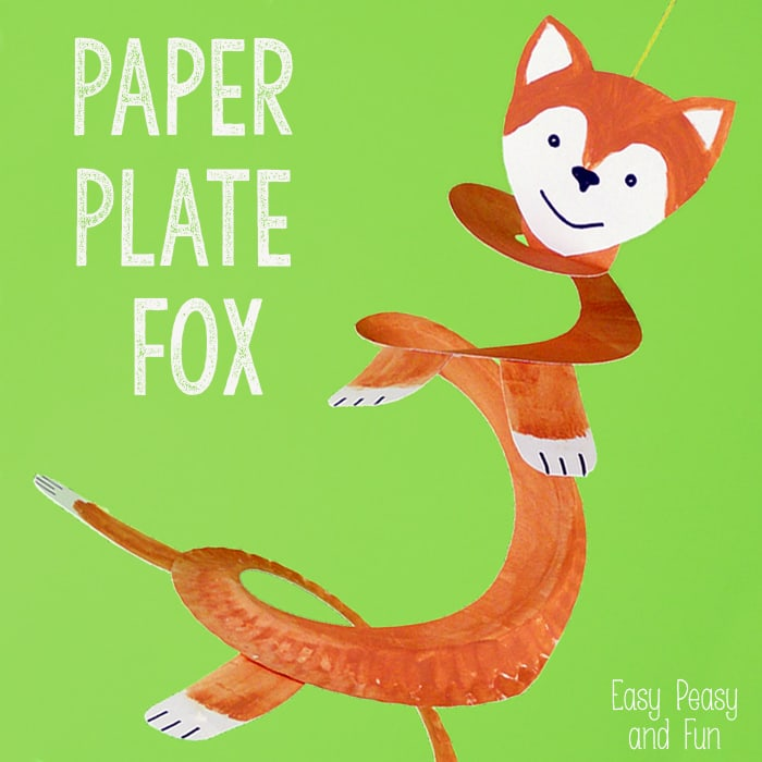 Crafts for Kids Paper Plate Fox