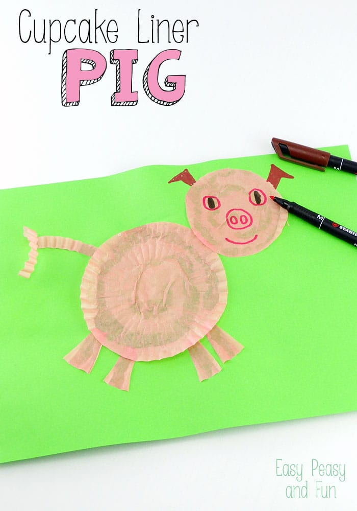 cupcake liner pig craft cupcake liner pig craft easy peasy and 4198