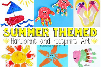 summer themed handprint and footprint art summer archives easy peasy and 7909