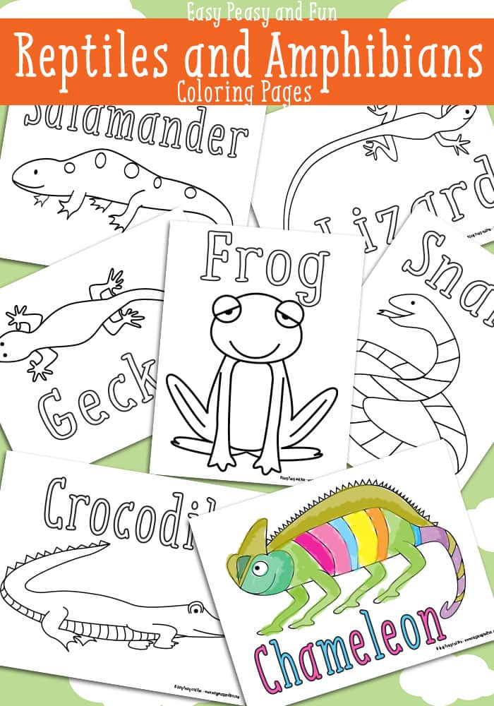 Free Amphibians and Reptiles Coloring Pages