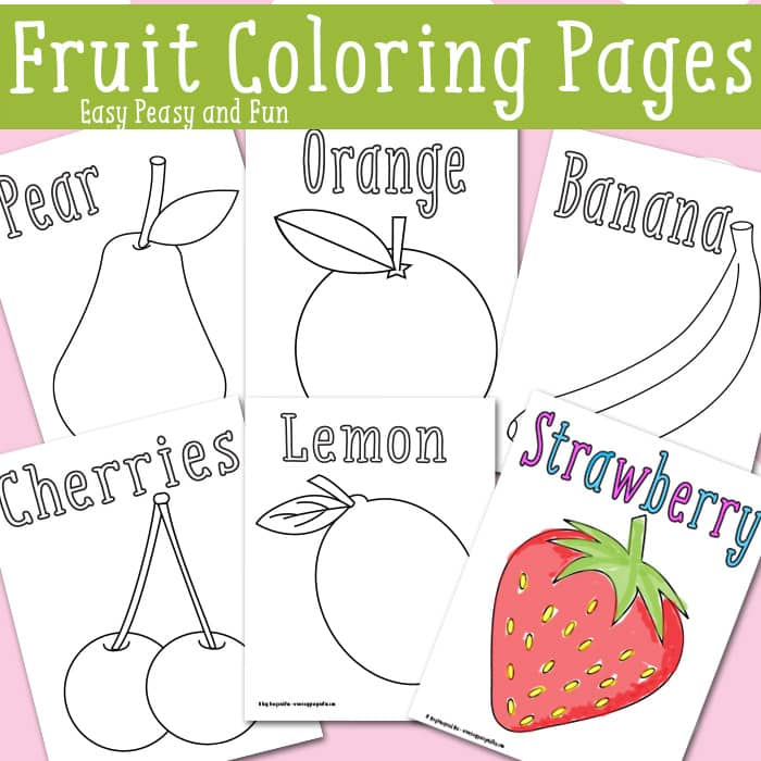 kids coloring pages free fruit - photo#29