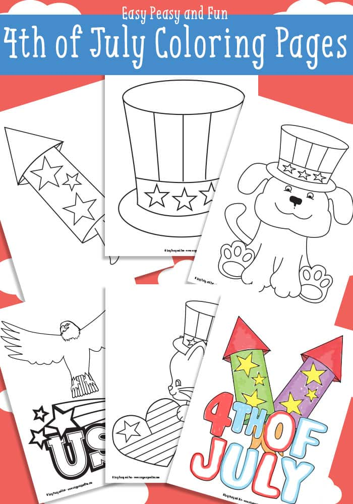 Free 4th Of July Coloring Pages Easy Peasy And Fun