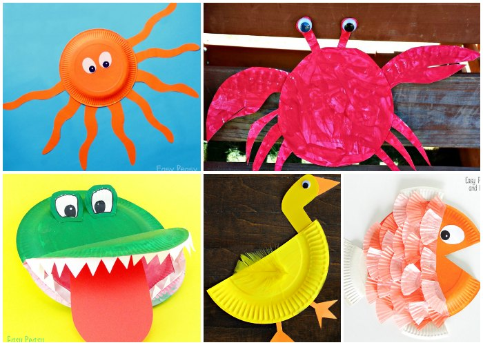 Woodland Paper Plate Animals & Adorable Paper Plate Animal Crafts - Easy Peasy and Fun
