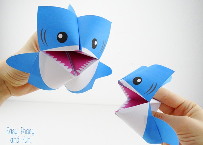Origami Fortune Teller Shark Cootie Catcher