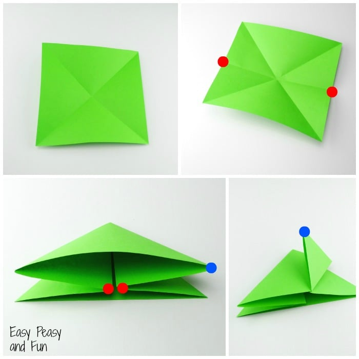 Origami frogs tutorial origami for kids easy peasy and fun - Origami paper tutorial ...