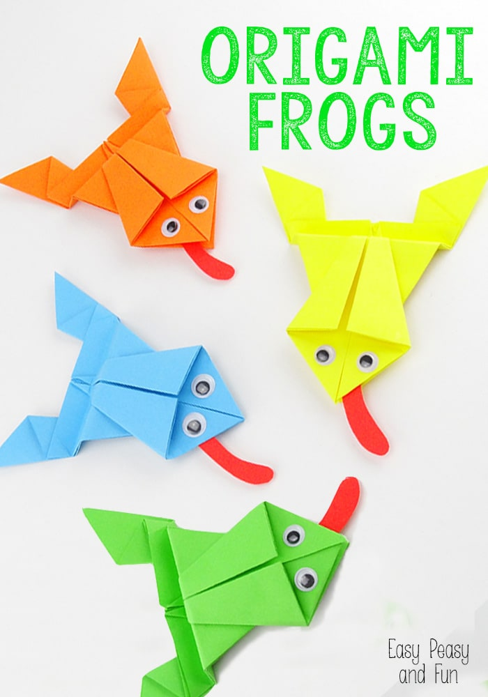 Jumping Frog - Let's Make Origami! - Exploring Origami - Virtual ... | 1000x700