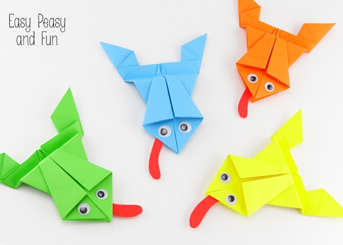 Origami Jumping Frog Instructions: www.Origami-Fun.com - YouTube | 500x700