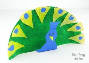 Paper Plate Peacock – Crafts for Kids