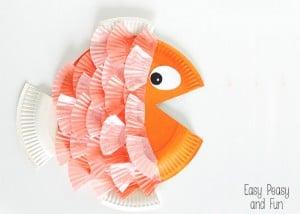 Paper Plate & Cupcake Liner Fish