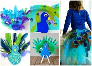 Bird crafts archives easy peasy and fun for Peacock crafts for adults