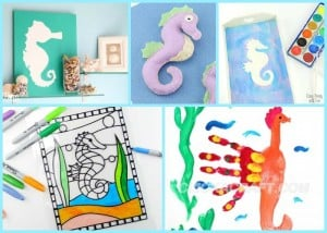 Seahorse Crafts for Kids