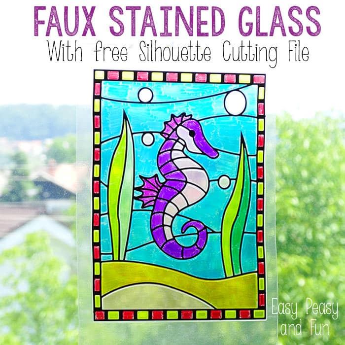 Stained Glass Suncatcher - Crafts for Kids