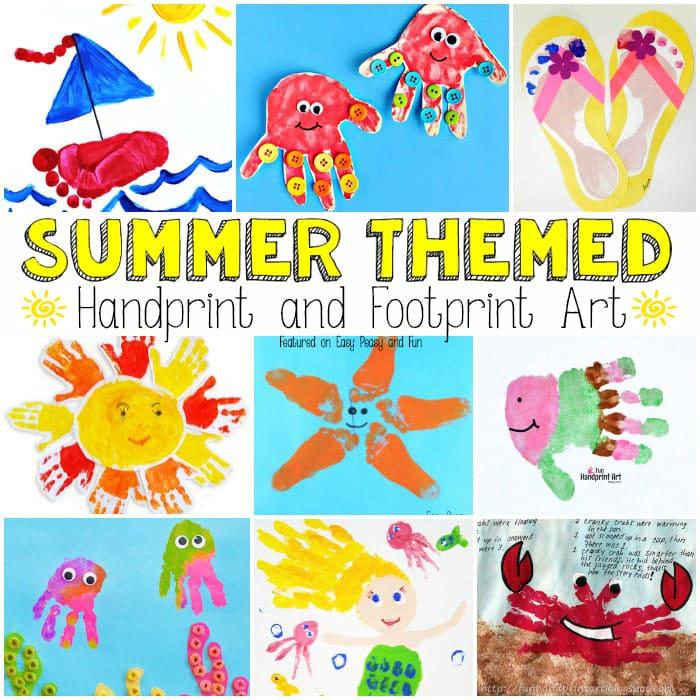 Summer Handprint and Footprint Art