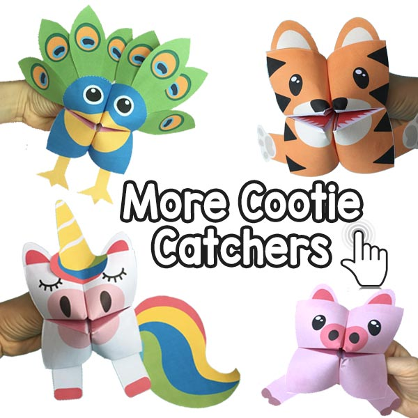 graphic relating to Cootie Catcher Printable identified as Shark Cootie Catcher - Origami for Little ones - Very simple Peasy and Enjoyment