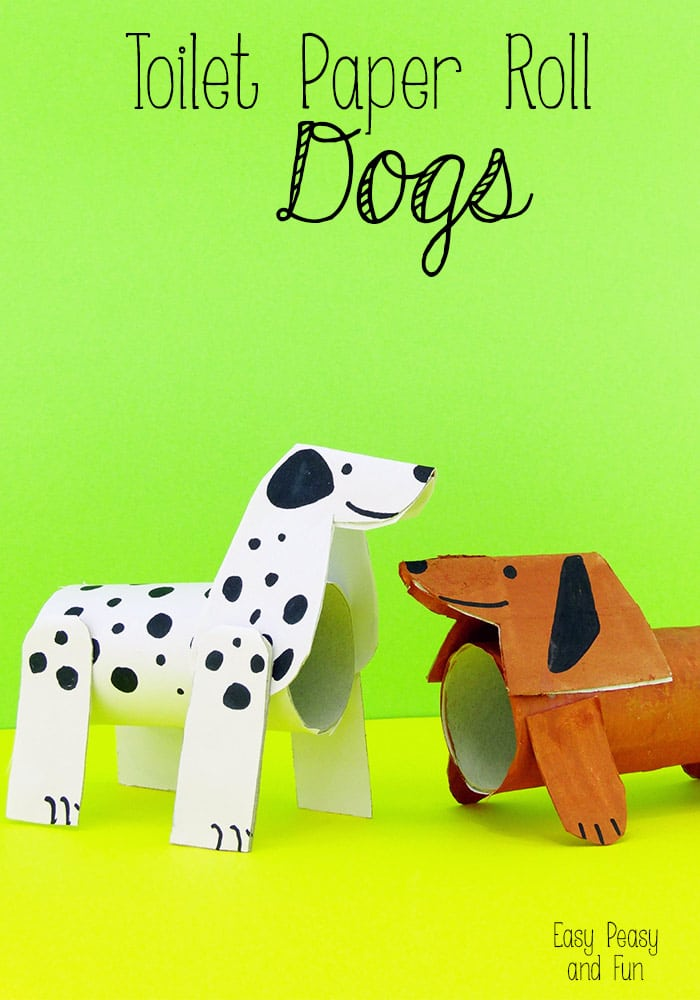 Toilet Paper Roll Dogs - Crafts With Toilet Paper Rolls with Your Kids