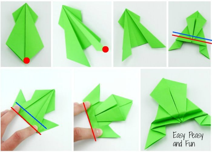 How To Make An Origami Jumping Frog Easy Youtube