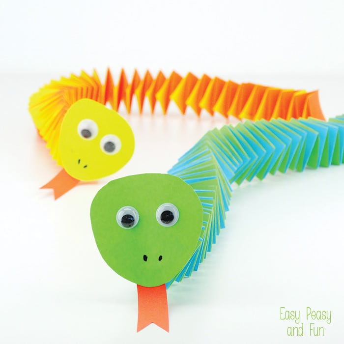 Accordion Paper Snake Craft Easy Peasy And Fun