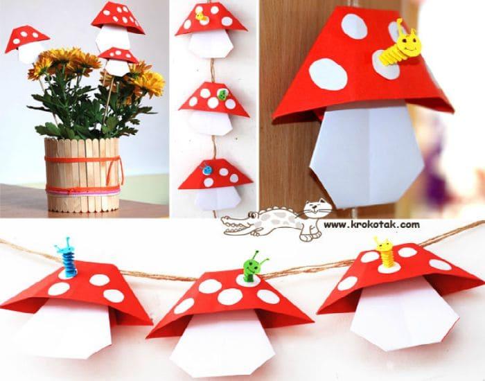 Folded Mushrooms
