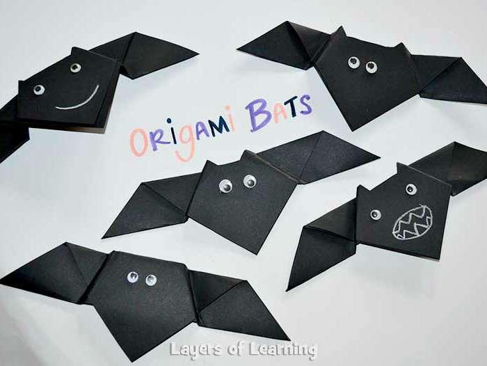 Folded Paper Bats