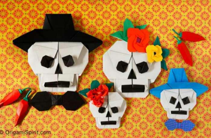 Folded Paper Skulls