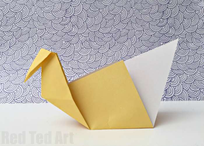 This Swan Is Jet Another Great Origami For Beginners Easy To Fold And Looks Pretty