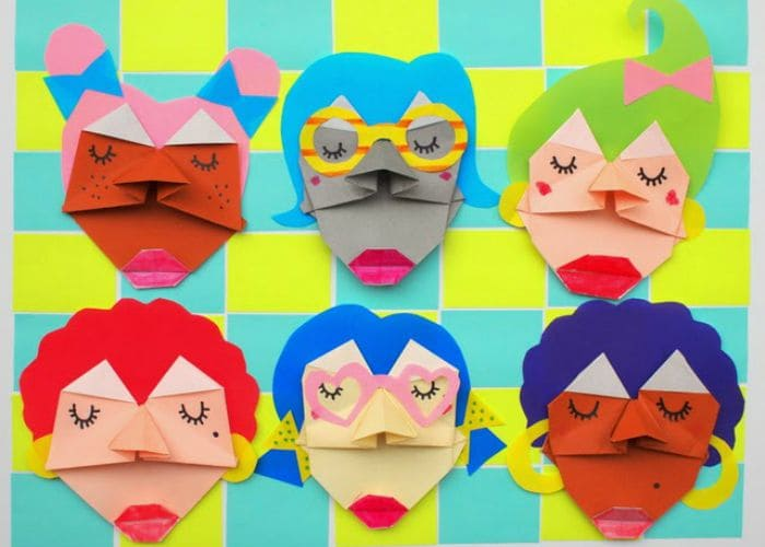 Fun Paper Folded Faces