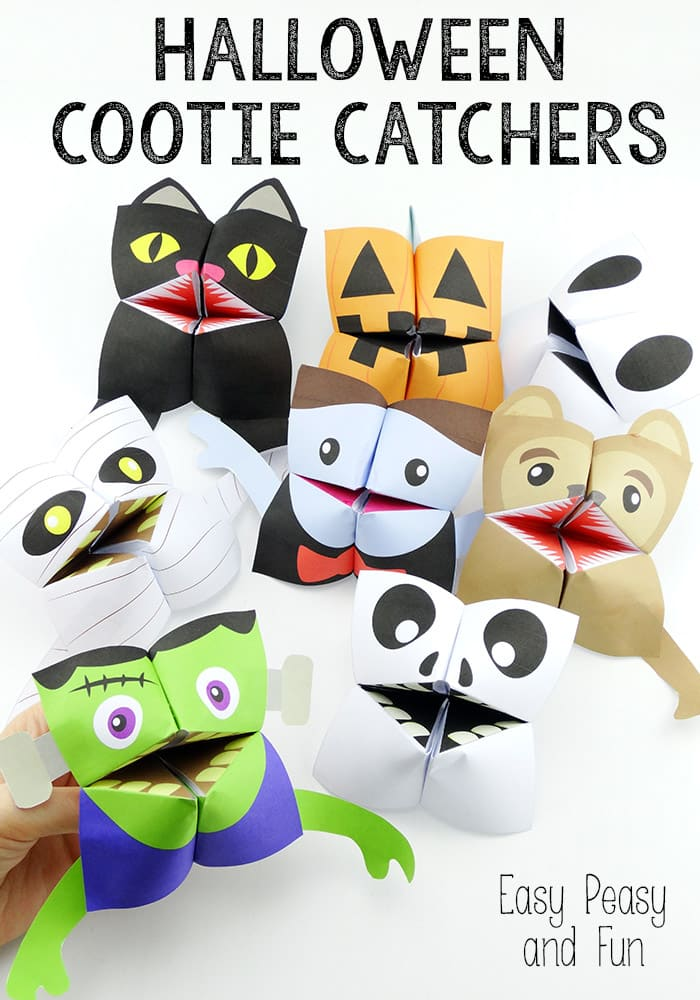Halloween Cootie Catchers Origami for Kids