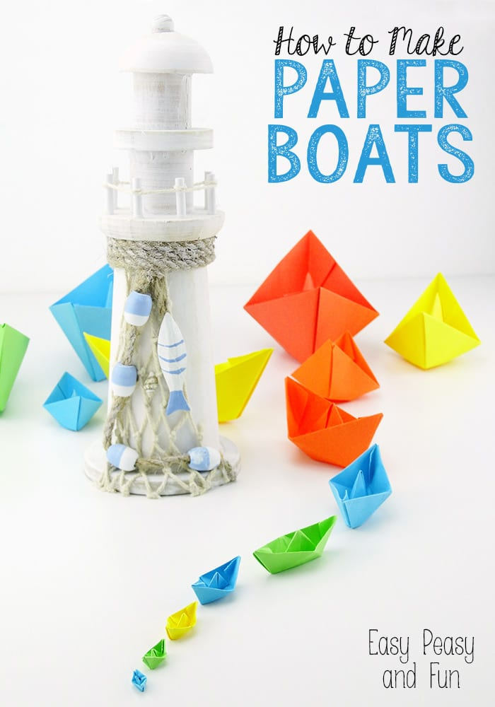 How to Make Paper Boats Tutorial - Origami for Kids