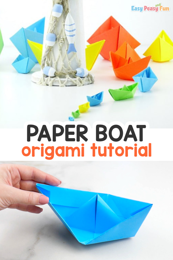 Paper Boats | Make a paper boat, Paper boat, Origami boat instructions | 1020x680